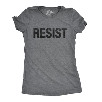 Funny RESIST Womens T Shirt Nerdy Political Tee