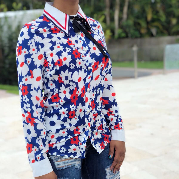 Poppy Button-Down Blouse