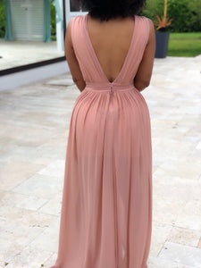Chiffon Deep V Dress