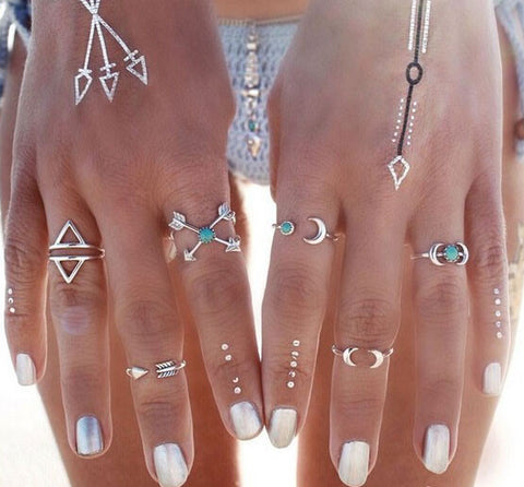Boho 6pc Ring Set