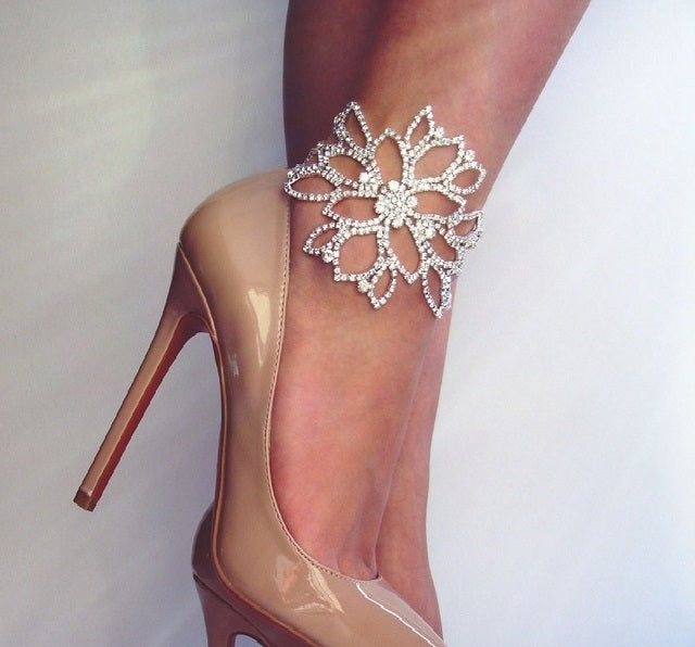 Couture Flower Anklet
