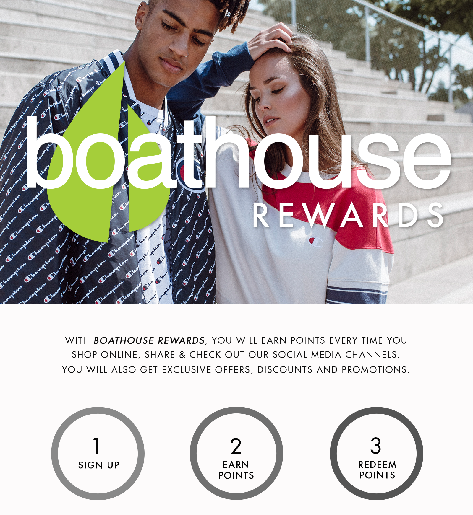 Boathouse rewards points