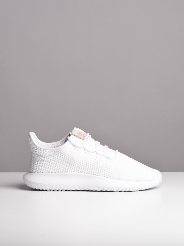 WOMENS TUBULAR SHADOW W WHITE LEATHER SNEAKERS