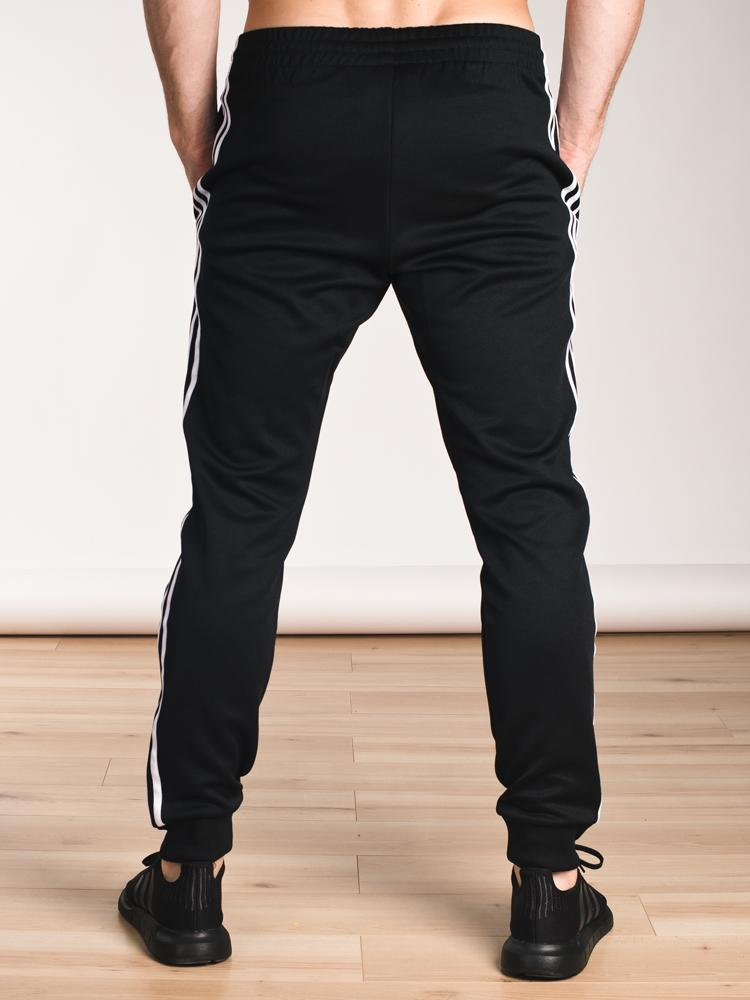 MENS SUPERSTAR CUFFED PANT - BLK