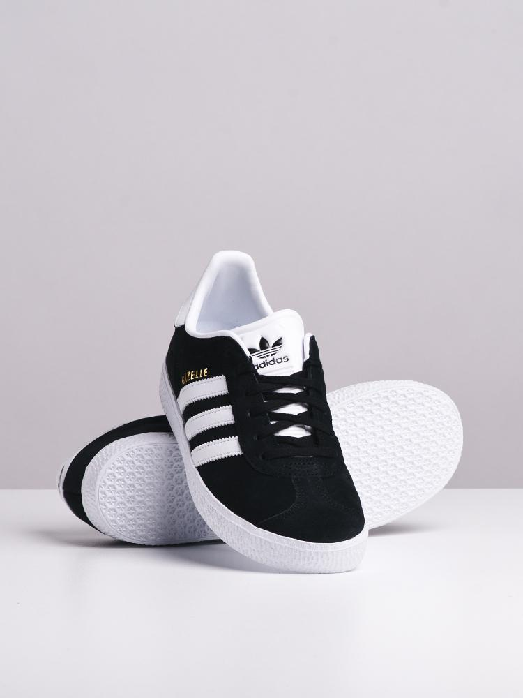 KIDS GAZELLE J BLACK/WHITE - CLEARANCE