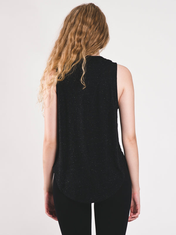 WOMENS ID WINNER MSCLE TANK TOP - BLACK