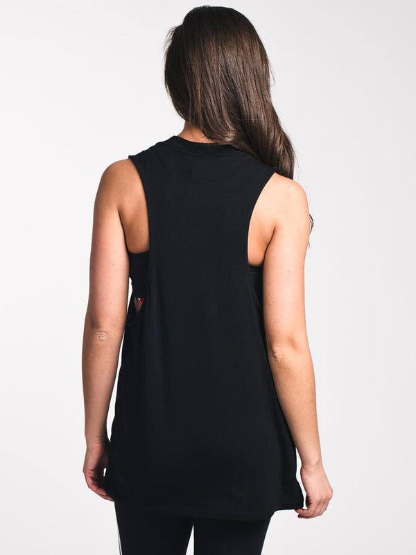 WOMENS TREFOIL TANK TOP - BLACK