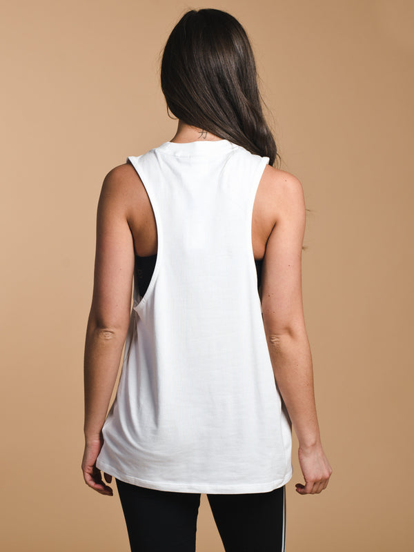 WOMENS TREFOIL TANK TOP - WHITE