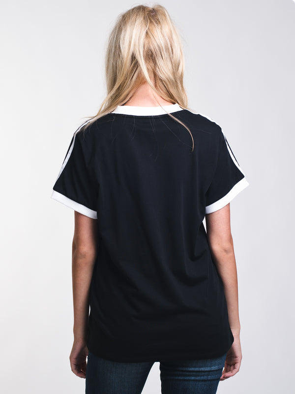 WOMENS 3STRIPES SHORT SLEEVE T-SHIRTEE - BLACK