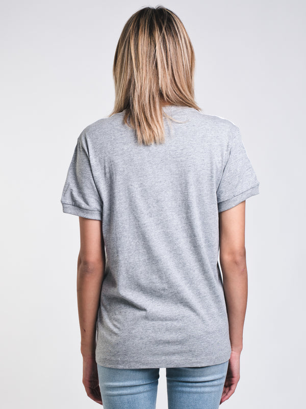 WOMENS 3STRIPES S/S TEE - GREY