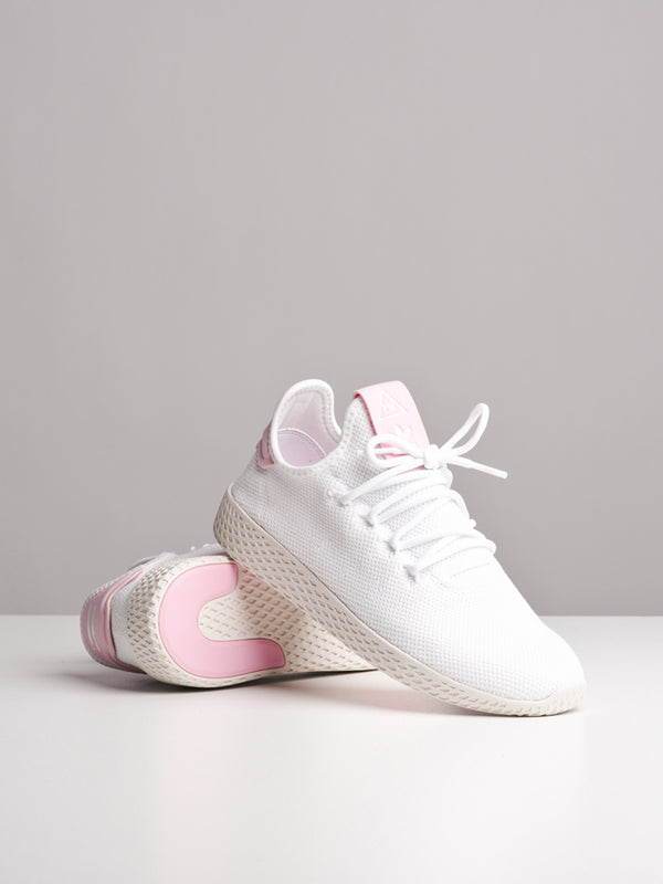 WOMENS PHARRELL WILLIAMS TENNIS HUW WHITE/PINK SNEAKERS
