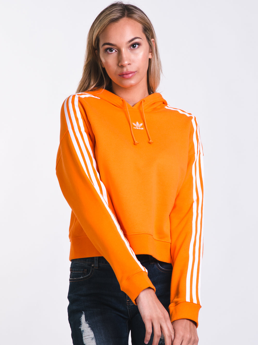WOMENS CROPPED HOODIE - ORANGE