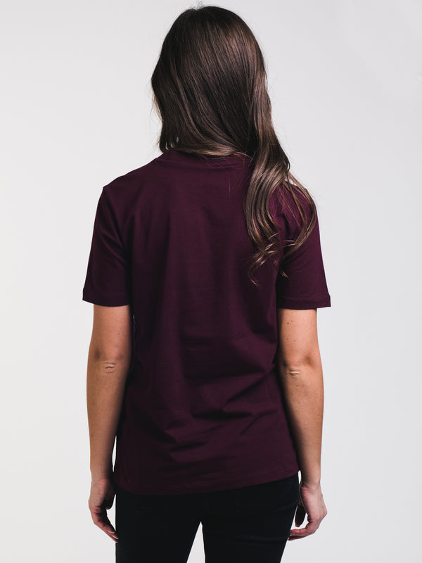 WOMENS TREFOIL SHORT SLEEVE T-SHIRTEE - MAROON