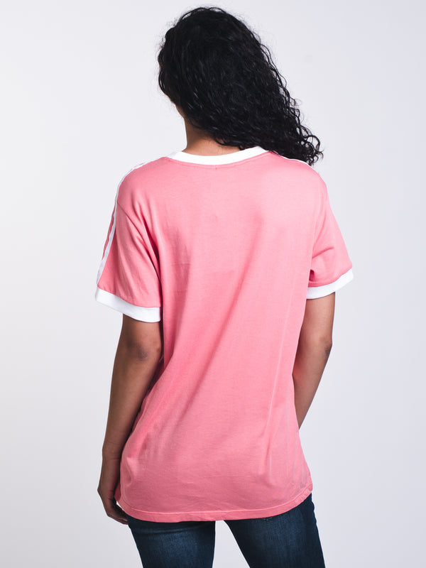 WOMENS 3STRIPES SHORT SLEEVE T-SHIRTEE - ROSE