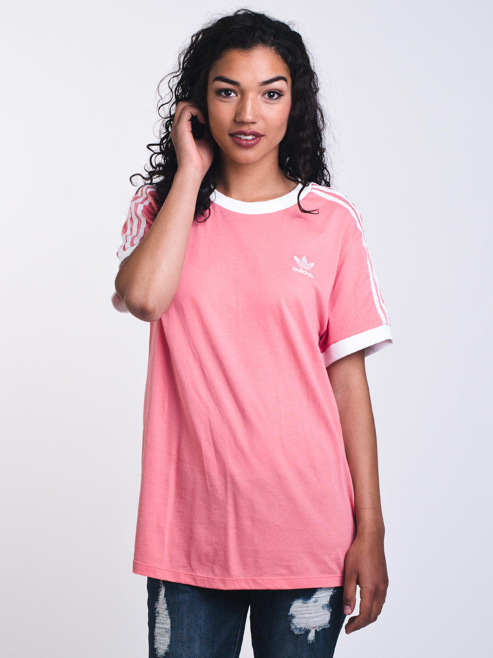 WOMENS 3STRIPES S/S TEE - ROSE