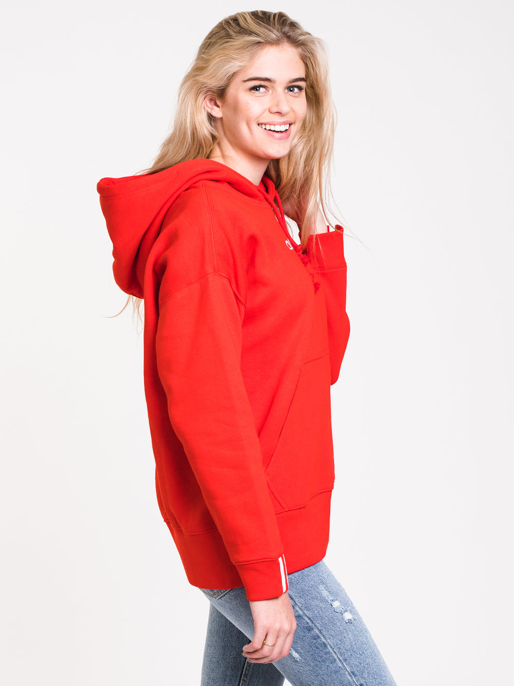 WOMENS COEEZE HOODIE - RED