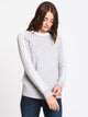 WOMENS 3STRIPE LC LOGO LONG SLEEVE TEE - GRY