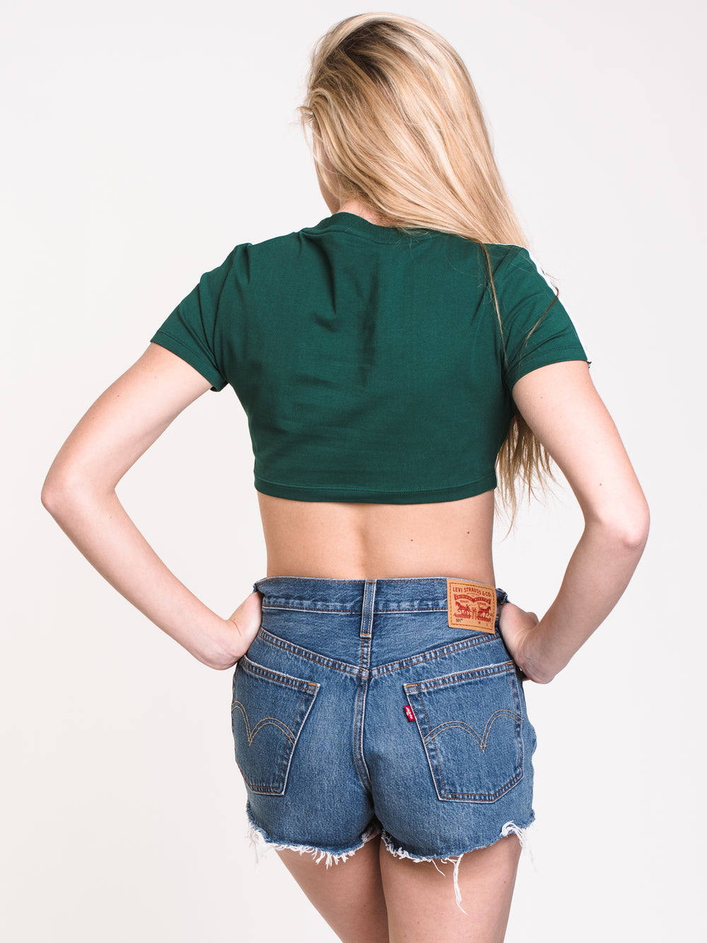 WOMENS CROPPED TEE - GREEN