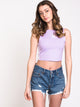 WOMENS CROP TANK - PURPLE GLOW