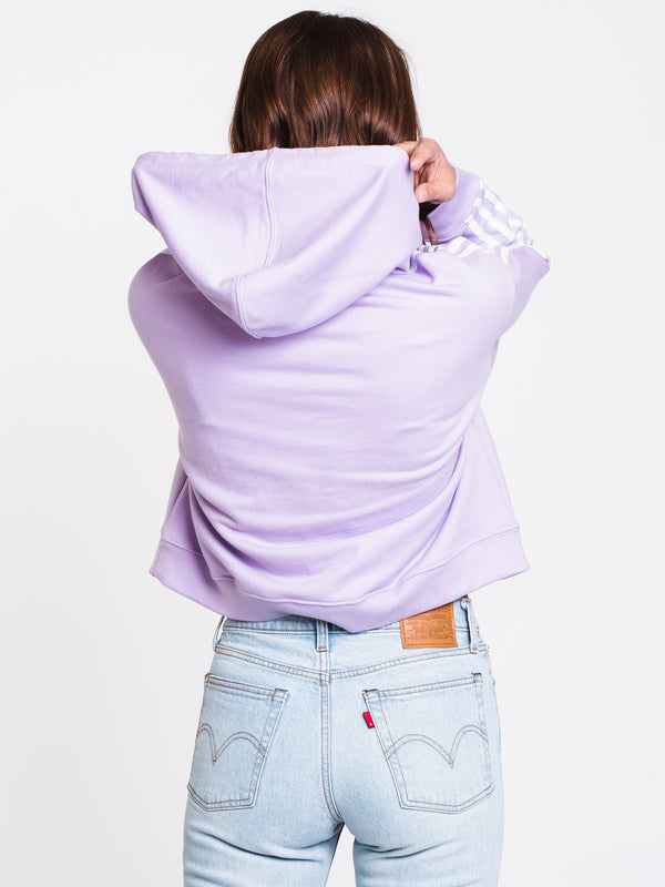 WOMENS CROPPED PULLOVER HOODIE - PURPLE