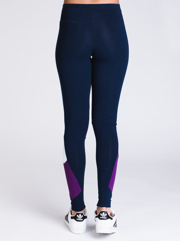 WOMENS 90's BLOCK TIGHTS - NAVY