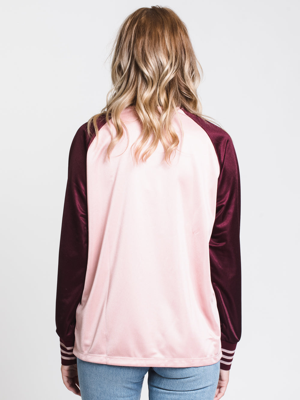 WOMENS TREFOIL LONG SLEEVE TEE - PINK