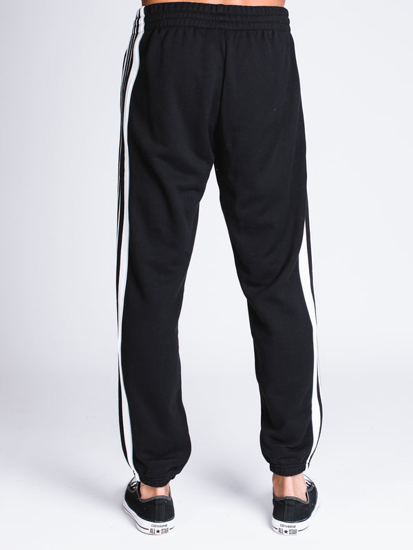 MENS 3STRIPE PANEL PANT - BLACK