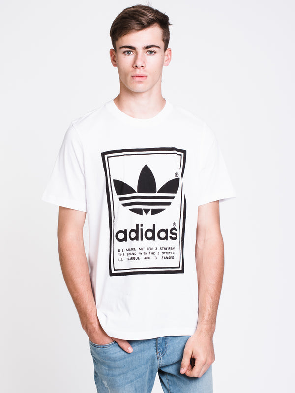 MENS VINTAGE SHORT SLEEVET-SHIRT- WHITE/BLACK