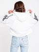 WOMENS 3STR CUTOFF CROP PULLOVER HD - WHT