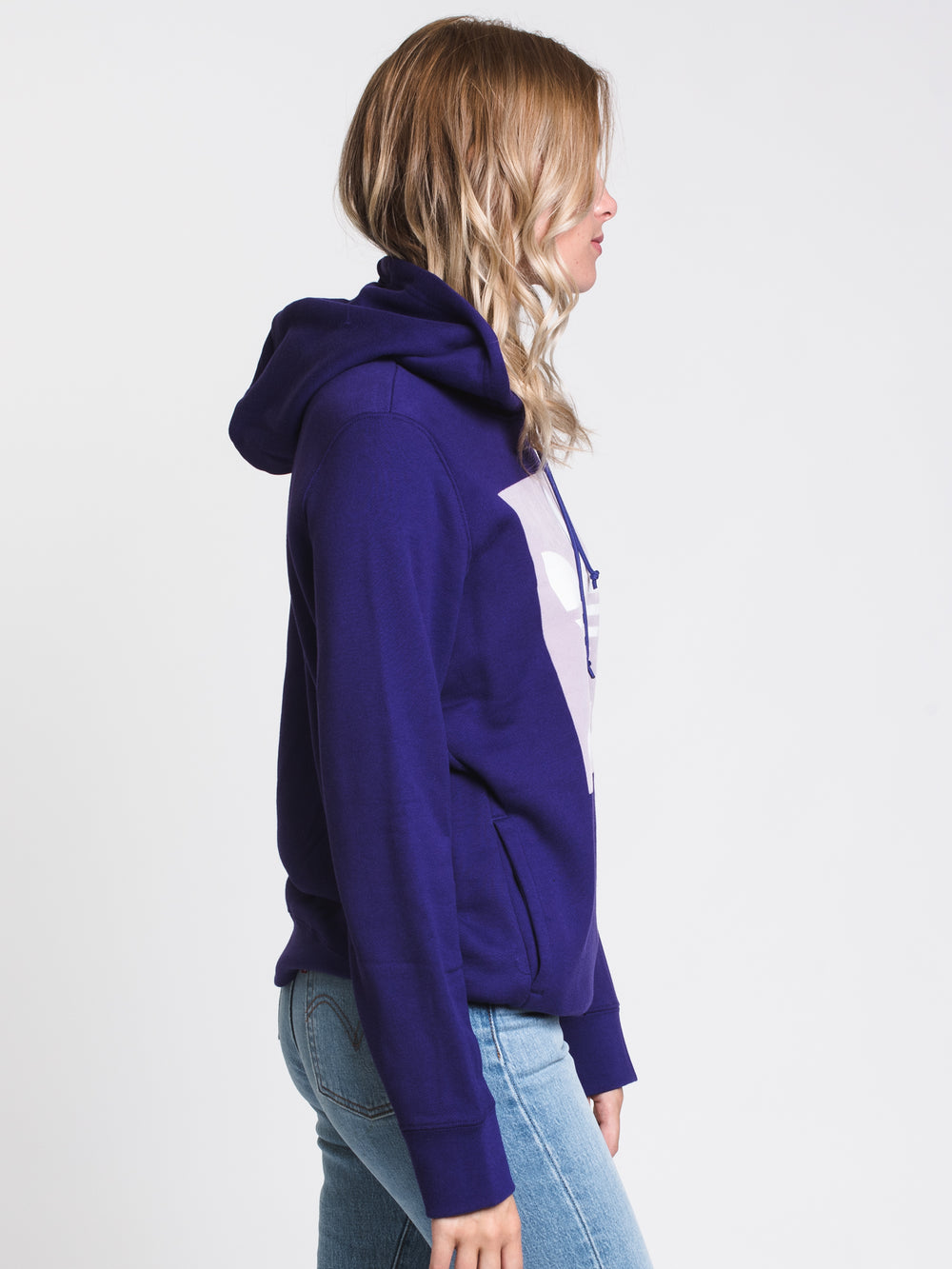 WOMENS TREFOIL PULLOVER HDY - PURPLE