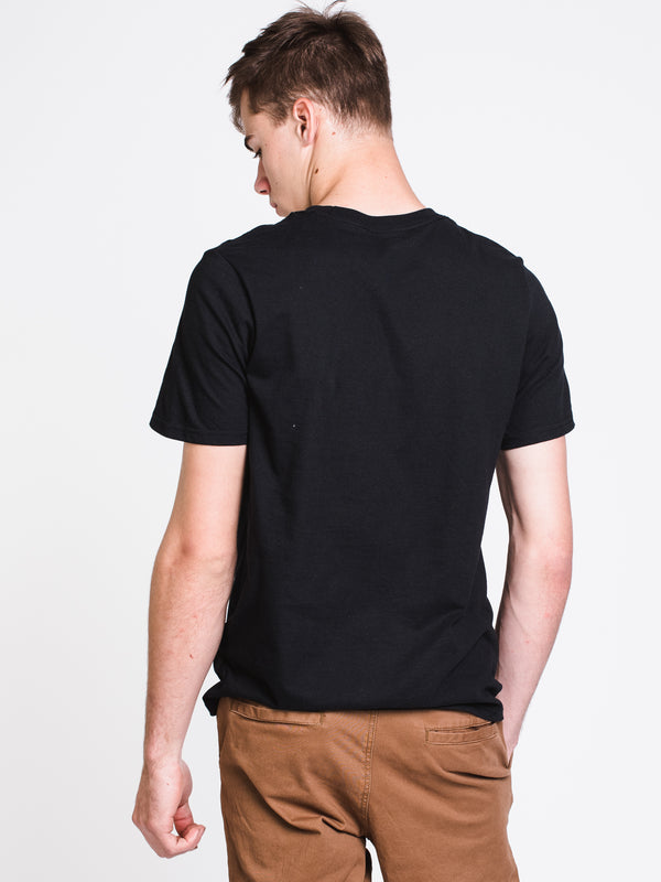 MENS VERTICAL GRFX SHORT SLEEVET-SHIRT- BLACK