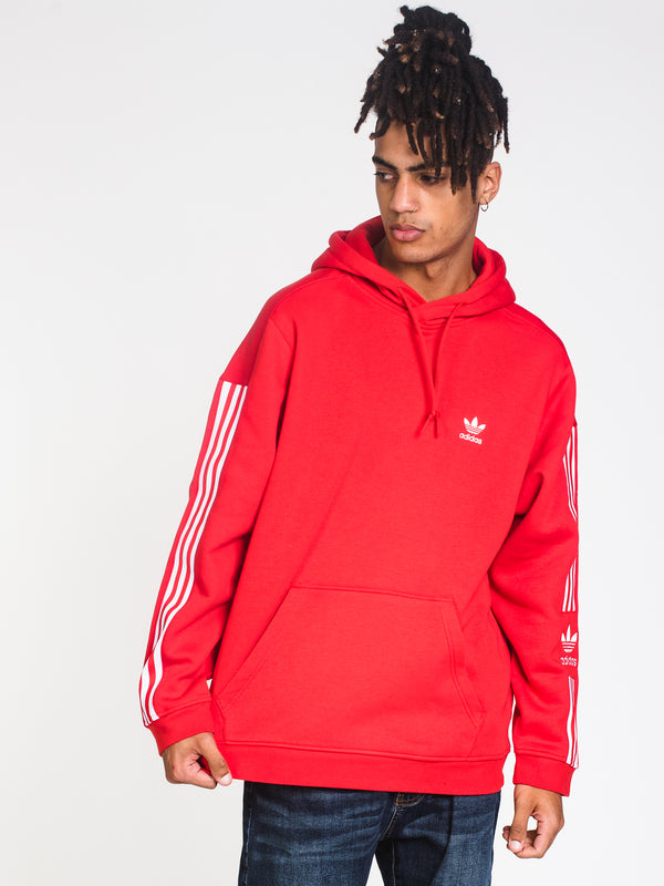 MENS TECH PULLOVER HOODIE - LUSH RED
