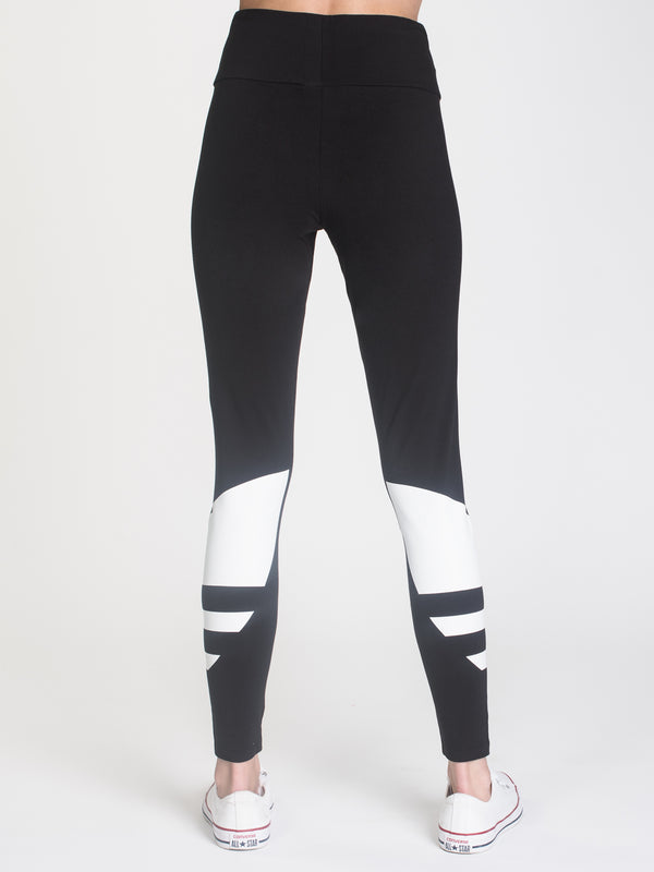 WOMENS LG LOGO TIGHT - BLACK/WHITE