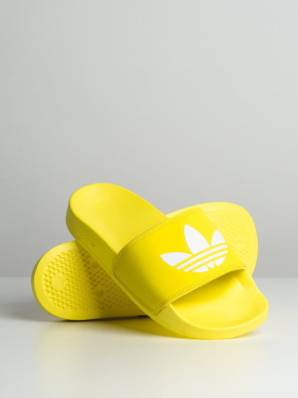 WOMENS ADILETTE - SHOCK YELLOW/WHITE