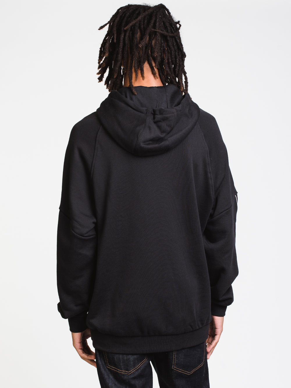 MENS BG TF OUT PULL OVER HOODIE- BLK/WHT