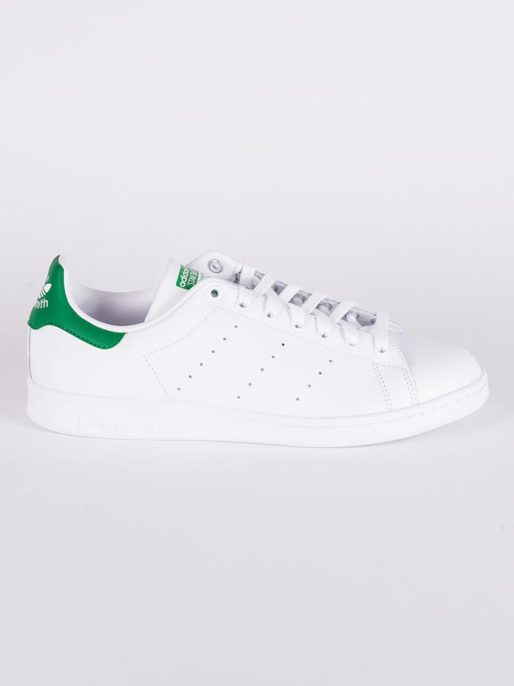 MENS STAN SMITH WHITE/GREEN SNEAKERS
