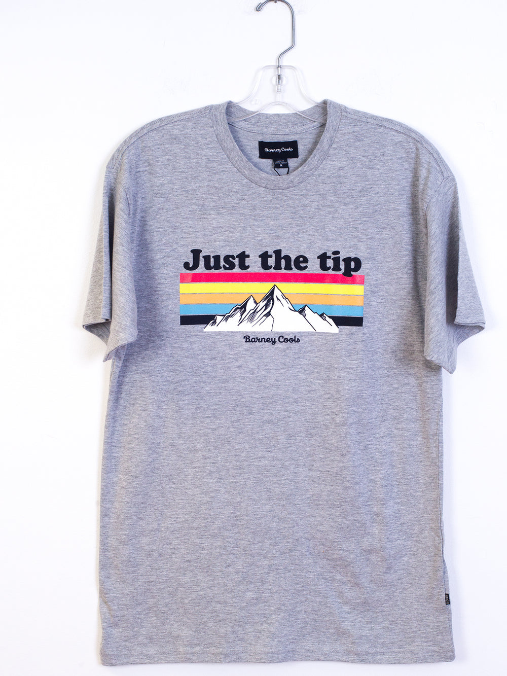 MENS JUST THE TIP S/S T - HTHR GRY
