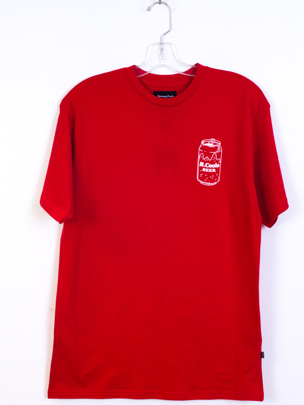 MENS B.COOL BEER S/S T - RED