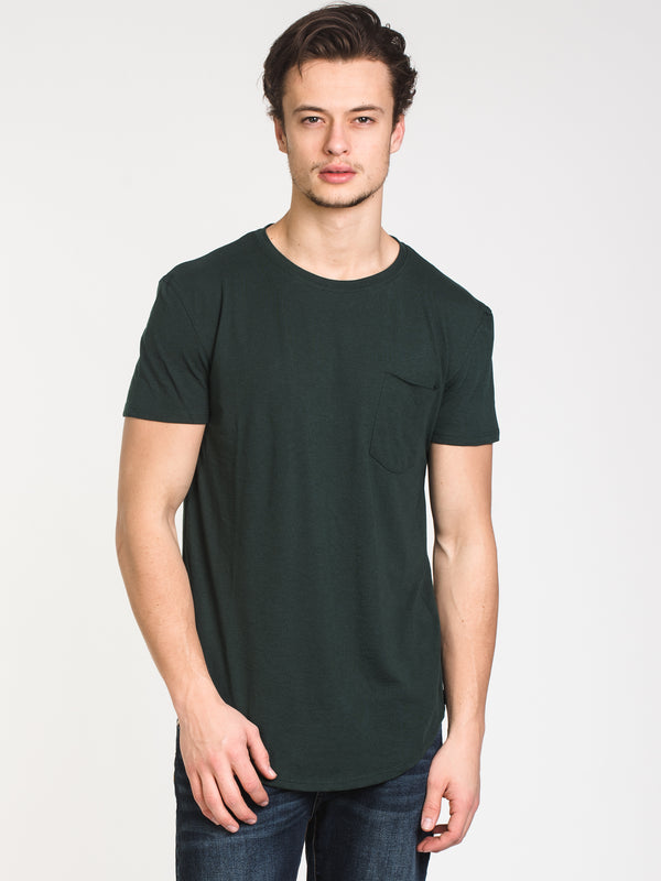 MENS LONGLINE T - FOREST