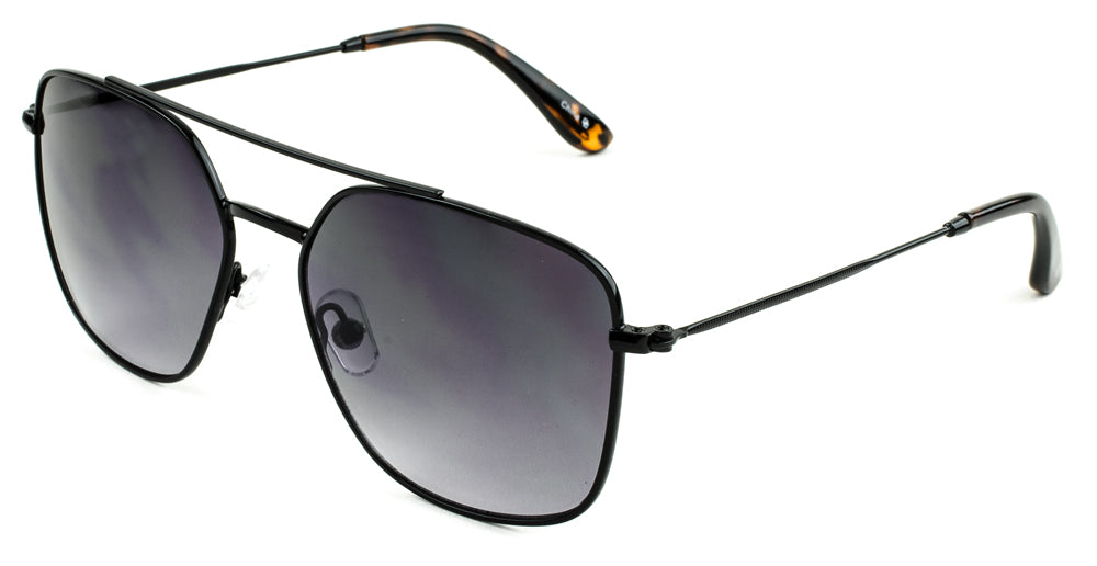 BERNARD SUNGLASSES BLACK TORT/SMOKE