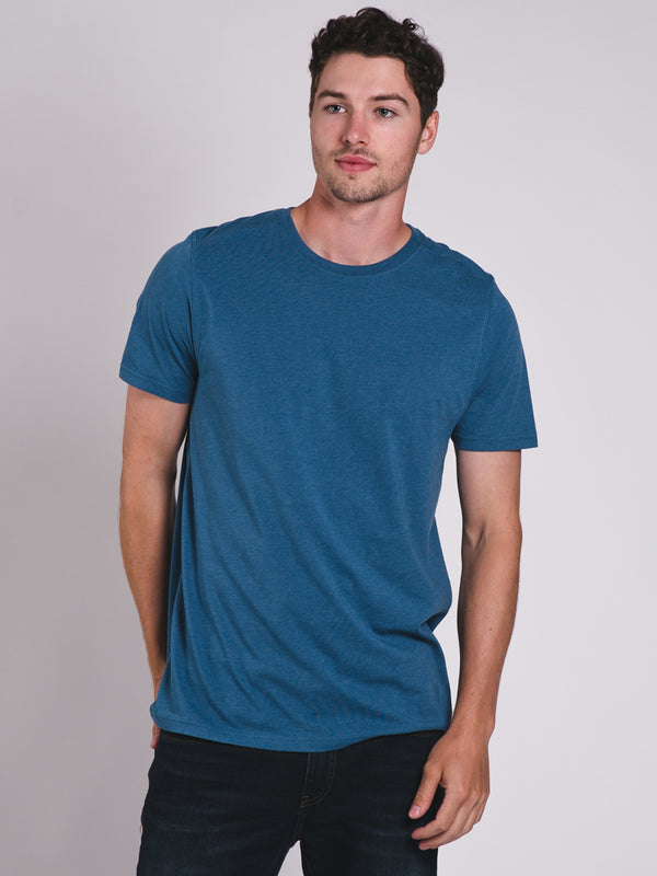 MENS VICTOR CREWNECK T-SHIRT- TEAL - CLEARANCE