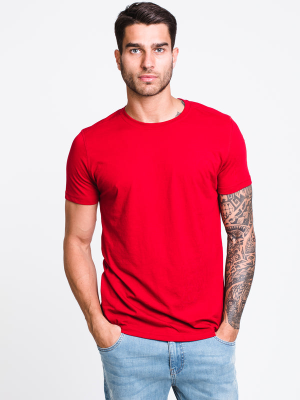 MENS VICTOR CREWT-SHIRT- RED
