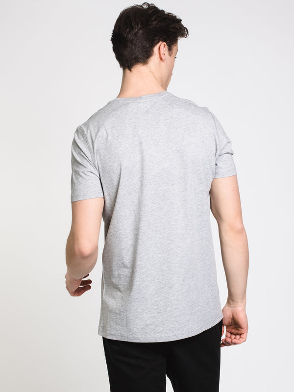 MENS VICTOR CREWNECK T - GREY MIX