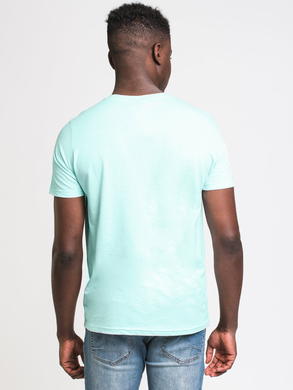 MENS VICTOR CREWNECK T - TURQUOISE