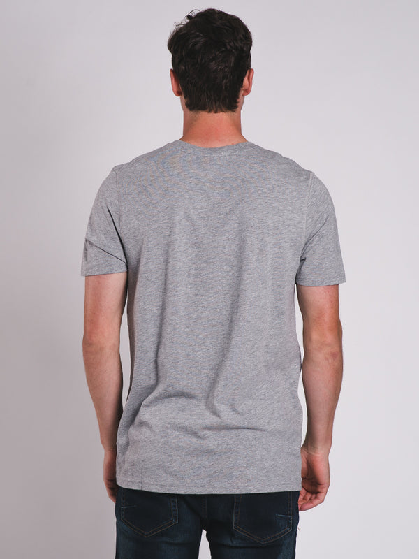 MENS VICTOR VNECK T-SHIRT- HTHR GREY - CLEARANCE
