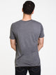 MENS VICTOR VNECK T - DARK GREY MIX