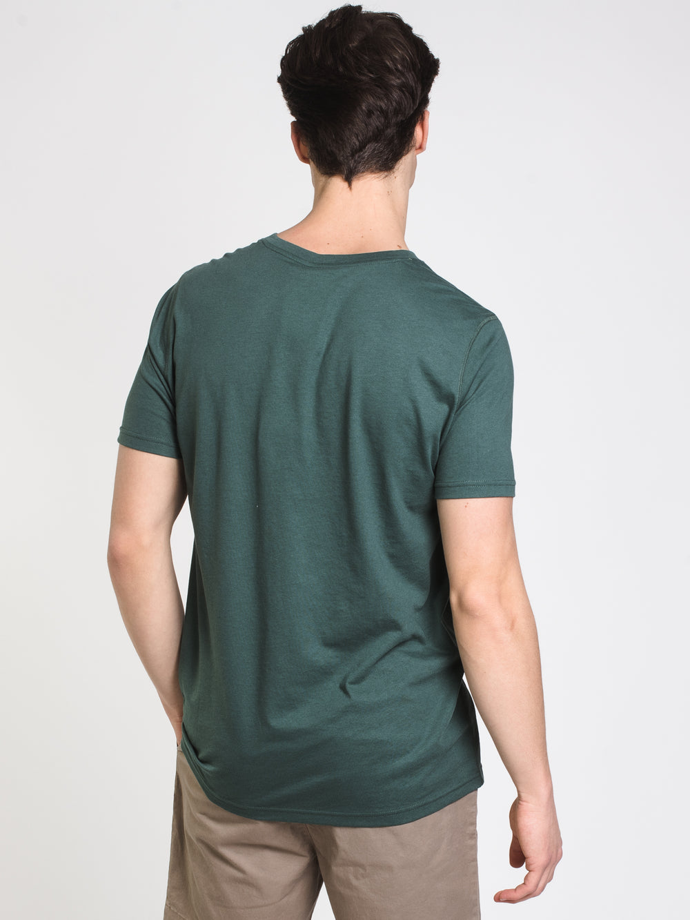 MENS VICTOR VNECK T - DUSTY GREEN