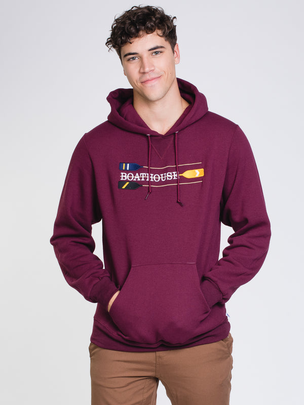 BOATHOUSE RETRO OARS HOOD - MAROON