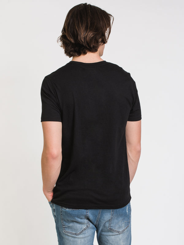 MENS VICTOR CREWNECK T-SHIRT- BLACK