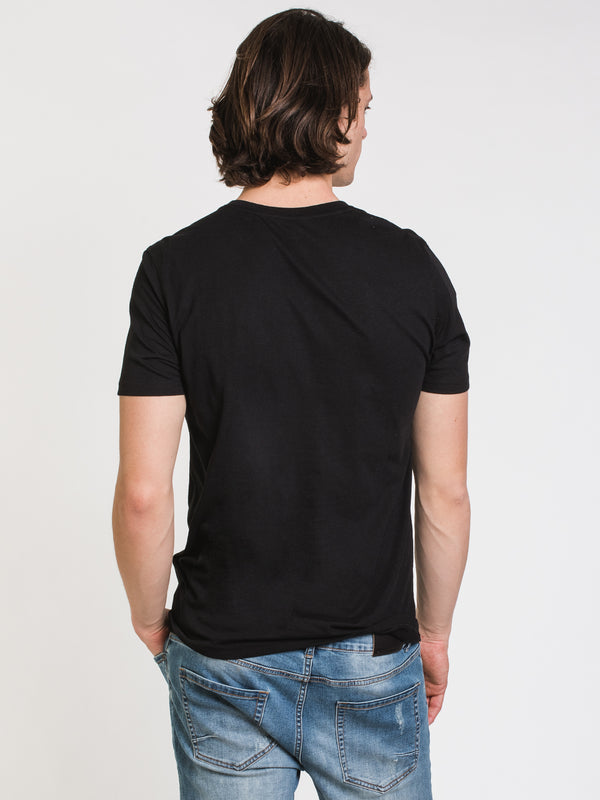 MENS VICTOR VNECK T-SHIRT- BLACK